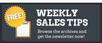 FREE weekly sales tips!